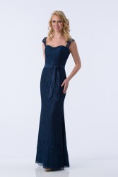 Bridesmaids Dresses - BM075 - $200 - Lace dress with satin sash by Kanali K.