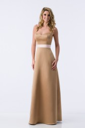 Bridesmaids Dresses - BM077 - $155 - Satin strapless dress with sash by Kanali K.