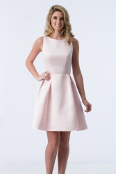 Bridesmaids Dresses - BM071 - $155 - Satin halter top short dress by Kanali K.