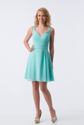 Bridesmaids Dresses - BM069 - $155 - Short halter top chiffon dress by Kanali K.