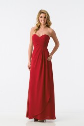 Bridesmaids Dresses - BM081 - $175 - Strapless chiffon dress with ruched bodice by Kanali K.