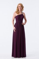 Bridesmaids Dresses - BM080 - $200 - One shoulder chiffon dress with embellishments by Kanali K.
