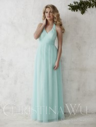 Bridesmaids Dresses - BM062 - $160 - Tulle halter dress by Christina Wu.