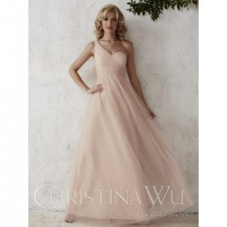 Bridesmaids Dresses - BM061 - $160 - One shoulder tulle dress by Christina Wu.