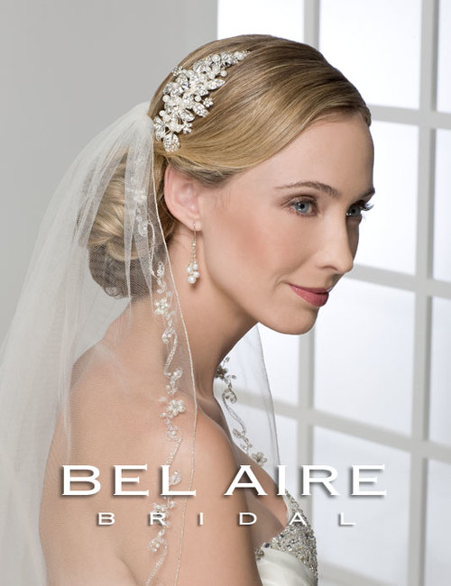 Bridal accessories - Flower and leaves comb by Bel Aire Bridal