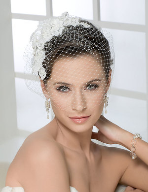 Bridal accessories - French net blusher by Bel Aire Bridal
