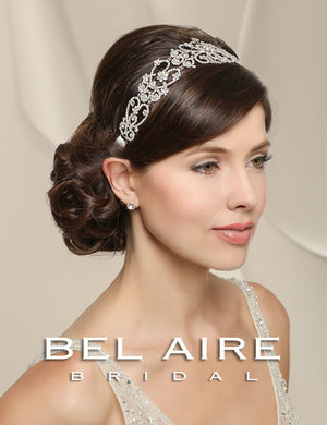 Bridal accessories - Rhinestone linked headband by Bel Aire Bridal