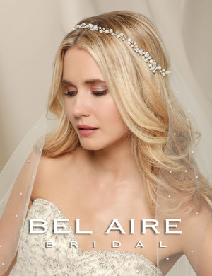 Bridal accessories - Pearl and rhinestone garland by Bel Aire Bridal