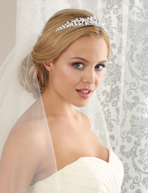 Bridal accessories - Rhinestone and crystal tiara by Bel Aire Bridal