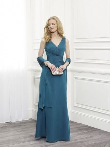 MOG Dresses - BM/MOB030 - $400 - Chiffon pleated dress with shawl by Val Stefani