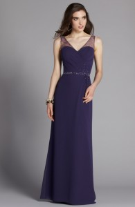 MOG Dresses - BM/MOB022 - $250 - Chiffon dress with beaded sash by Romantic Bridals