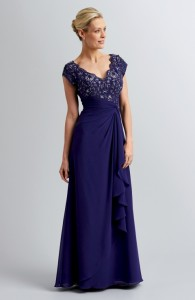MOG Dresses - BM/MOB019 - $330 - Lace and chiffon dress with embellishments by Romantic Bridals
