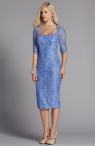 MOG Dresses - BM/MOB050 - Tea-length lace dress by Romantic Bridals