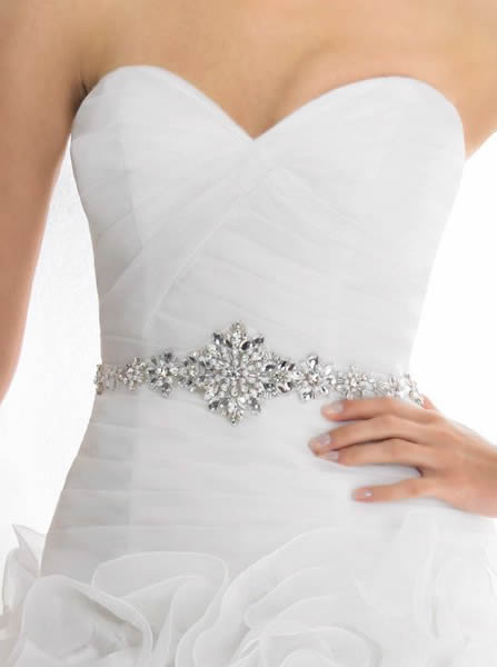 Bridal accessories - Beaded bridal sash by Moonlight Bridal