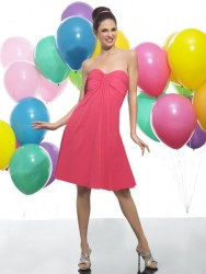 Bridesmaids Dresses - BM041 - $150 - Chiffon empire waist dress by Moonlight Bridal.