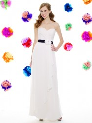 Bridesmaids Dresses - BM043 - $200 - Chiffon dress with flowers at the waist by Moonlight Bridal.