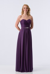 Bridesmaids Dresses - BM068 - $200 - Strapless chiffon dress with lace bodice by Kanali K.