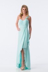 Bridesmaids Dresses - BM074 - $175 - Chiffon one shoulder hi-low dress by Kanali K.