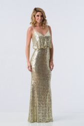 Bridesmaids Dresses - BM064 - $245 - Long sequin dress by Kanali K.